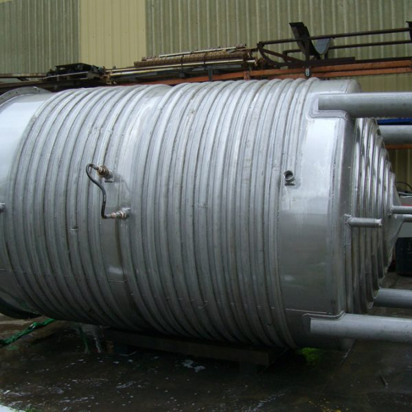 10,000 litre half pipe jacketed tank