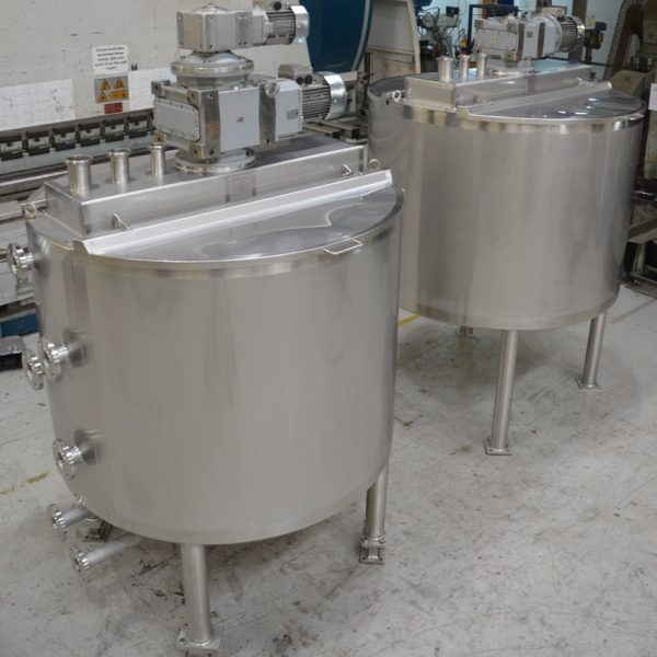 2 off jacketed kettles 1